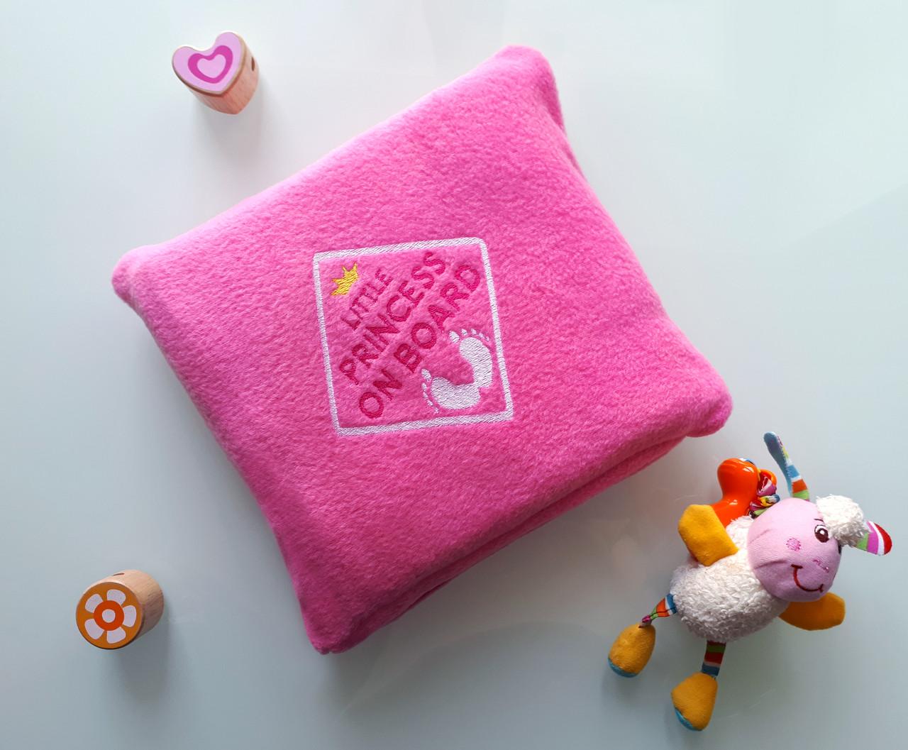 """Детский плед с вышивкой """"Little Princess"""" 05 - цвет на выбор"""