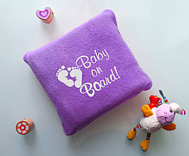 """Детский плед с вышивкой """"Baby on Board"""" 08 - цвет на выбор"""