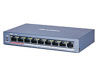 DS-3E0109P-E/M(B) 8 портовый POE коммутатор Hikvision