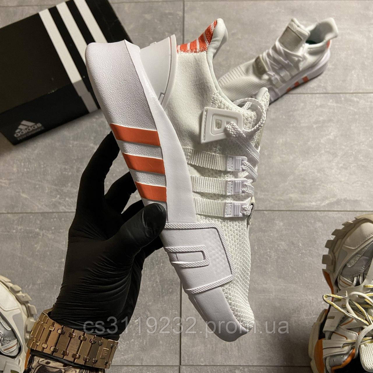 Мужские кроссовки Adidas EQT Support Bask Adv White Orange (белые)