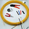 Кабельная протяжка, стеклопруток 6мм х 50м + 7 наконечников на тележке, узк, протяжка для кабеля 50 метров,, фото 6
