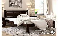 """Односпальная кровать из натурального дерева """"ТЕА Плюс"""" 80х200"""
