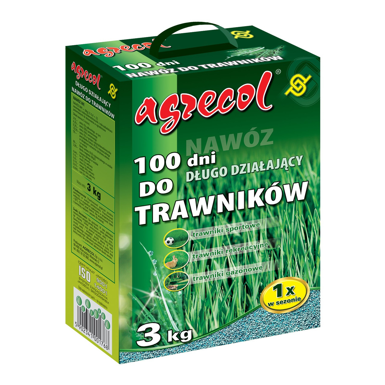 Удобрение для газона 100 дней Agrecol 3 кг