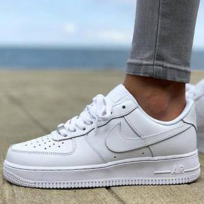 Женские и мужские кроссовки Nike Air Force 1 Low White, найк аир форс белые, жіночі найки аір форси
