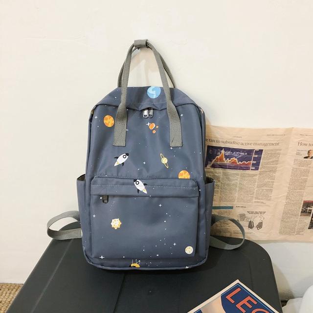 Сумка-рюкзак с принтом космоса