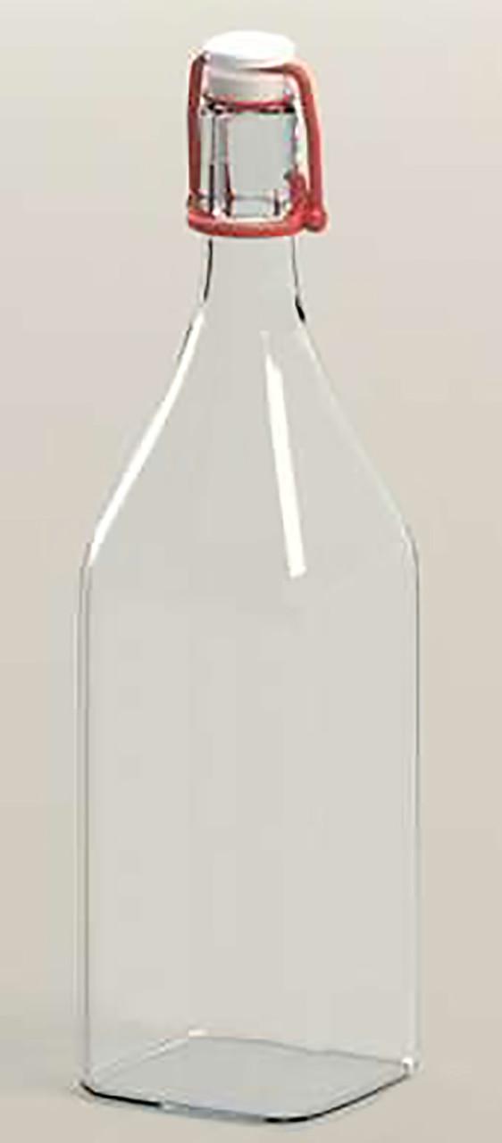 Бутылка стеклянная 0,5 л Homemade с красным бугельным замком для хранения и подачи напитков Everglass