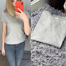 Річна однотонна базова вільна жіноча футболка м'ятна, фото 3