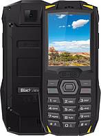 Телефон ударопрочный, черный блеквью с батареей большой емкости на 2 sim Blackview BV1000 Yellow IP68, фото 1