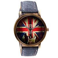 Кварцевые наручные часы на джинсовом ремешке Britania Rock Old-blue 72579, КОД: 1392236