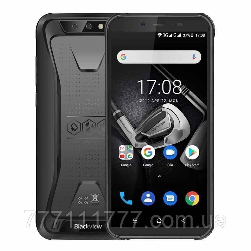 Смартфон блеквью черный, ударопрочный с двойной основной камерой на 2 сим Blackview BV5500 Pro black 3/16 NFC
