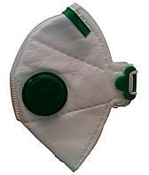Респиратор Росток зеленый FFP1 с клапаном