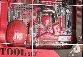 Набор детских инструментов для мальчика красный