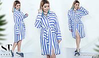 """Модное женское платье-рубашка на пуговках, ткань """"Штапель"""" размер 42, 44, 46, 50, 52, 54 размер 42"""