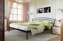 """Ліжко двоспальне """"Ленора""""1600х2000 крем"""