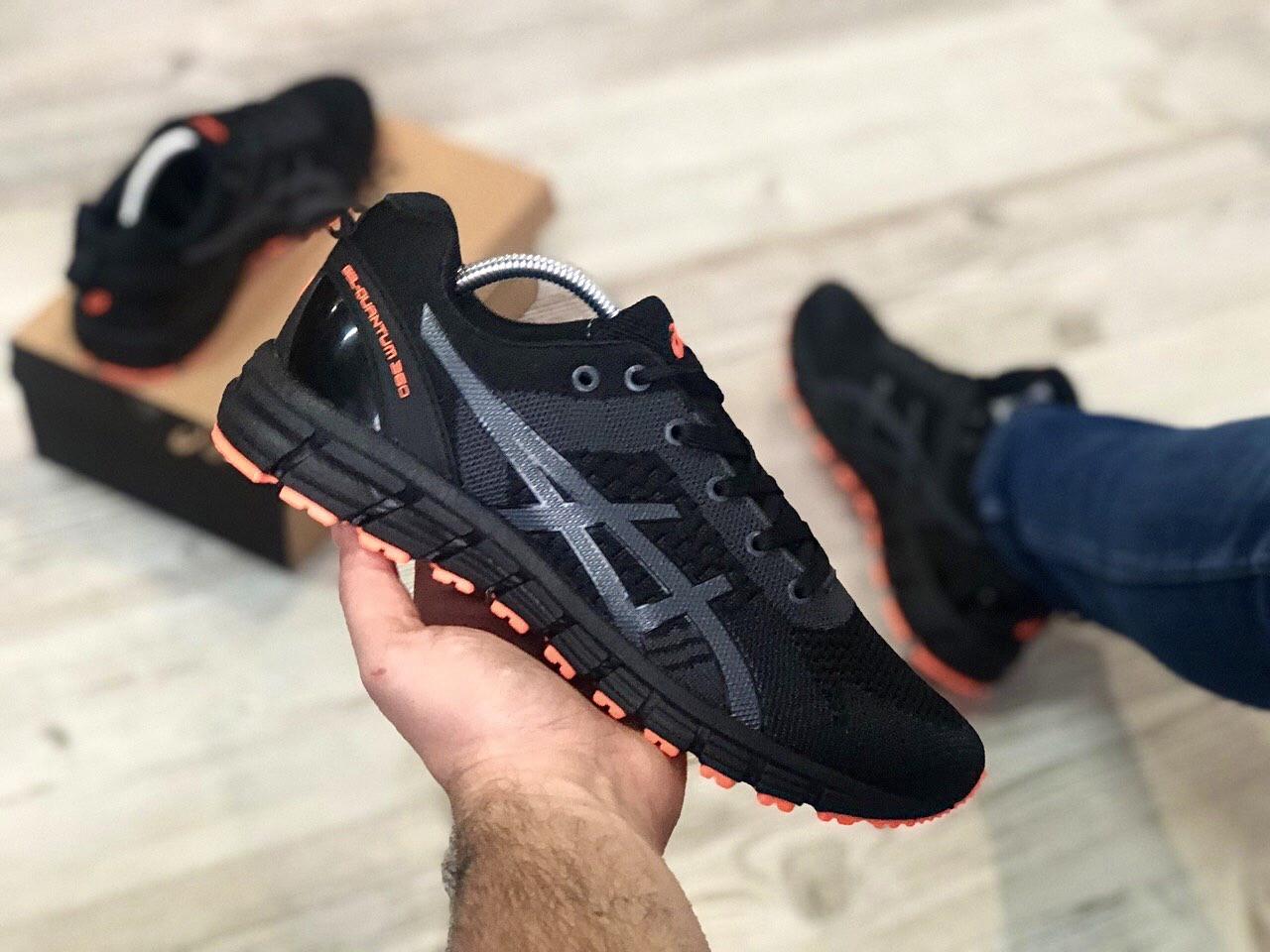 Стильные кроссовки Asics Gel Quantum Black Orange