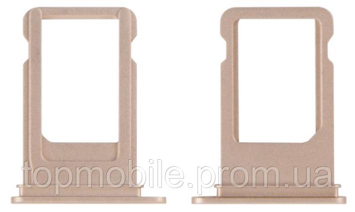 Держатель Sim-карты iPhone 7 Plus, золотистый