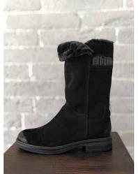 Зимові жіночі замшеві чоботи Tamaris 1-26486-21 008