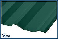 Профнастил кровельный ПК-35, RAL 6005 Цвет Зеленый мох (матовый).
