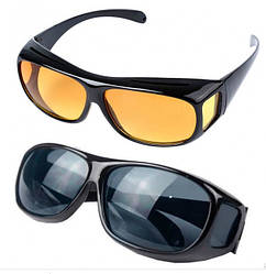 Антибликовые очки для водителей 2 шт HD Vision Очки от солнца поляризованные День-Ночь