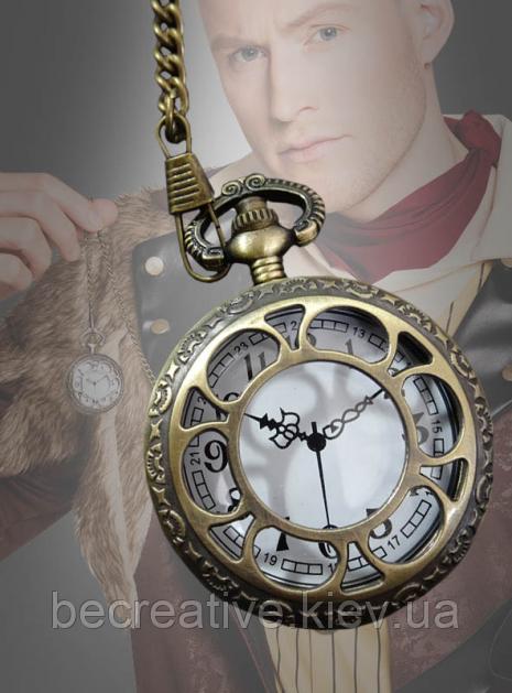 Золотые карманные часы для костюмов в стиле стимпанк без функции