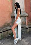 Красивое летнее платье макси светло-голубое, фото 2