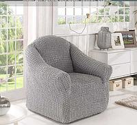 Универсальный чехол для кресла без юбки Turkey № 7 Серый