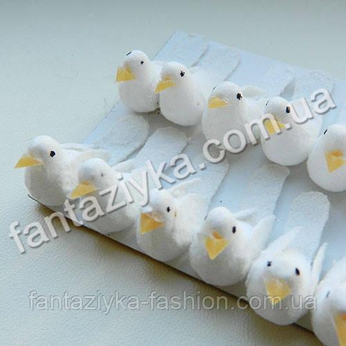 Малюсенький белый голубь 3см