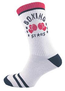 Носки высокие мужские белые с рисунком Бокс 39-44 р. Marca 1194266140