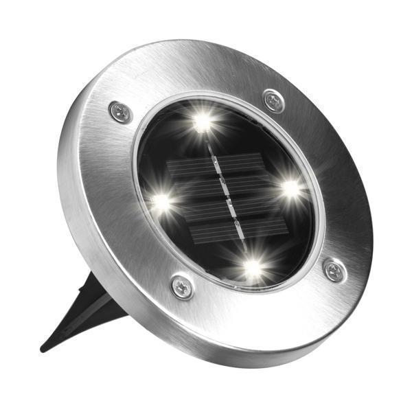 Набор из 4-х солнечных светильников Disk Lights для сада и дома | Уличный светильник на солнечной батарее