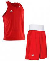 Форма для занятий боксом Adidas (шорты + майка, красная, ADIBPLS01_CA), фото 1