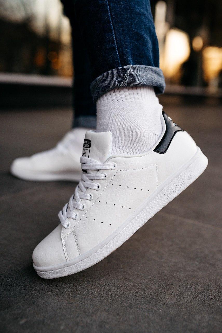 Мужские кроссовки Adidas Stan Smith white/black