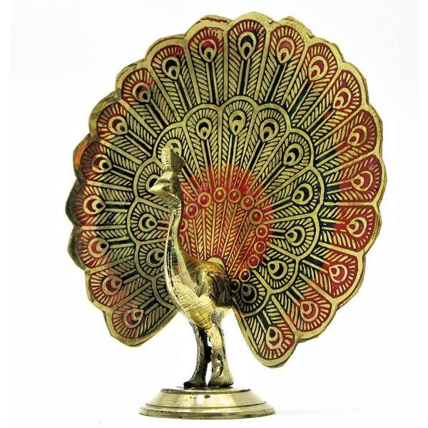 Статуэтка(розница) из бронзы Павлин, распустивший хвост, Индия