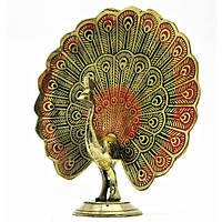 Статуетка(роздріб) з бронзи Павич, розпустивши хвіст, Індія