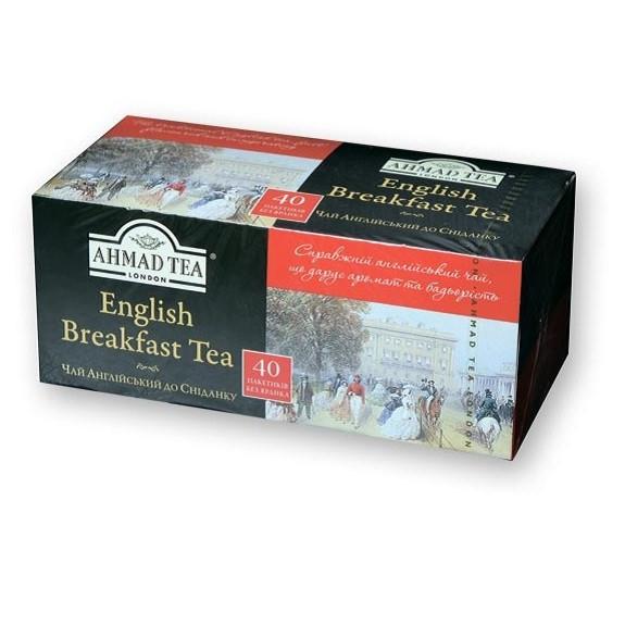 Чай English Breakfast чёрный ТМ «Ahmad tea» — 40 ф/п х 2 г
