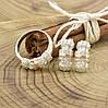 Серебряный набор с золотом Успех кольцо размер 17.5 + серьги 19х9 мм вставка белые фианиты, фото 4