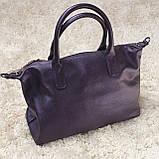 Сумка классическая женская фиолетовая, фото 3