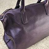 Сумка классическая женская фиолетовая, фото 5