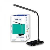 Лампа настольная светодиодная 6W с регулировкой яркости черная Feron DE1732