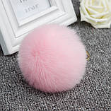 Меховой шарик брелок на рюкзак, фото 4