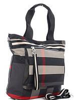 Жіноча тканинна сумка 00112 grey Тканинні сумки недорого, текстильні сумки