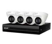 Комплект видеонаблюдения Dahua NVR1B04HC-4P/E/4-T1B20 EZIP-KIT