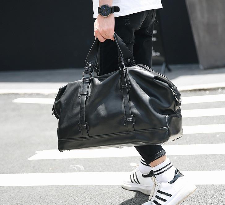 Стильная мужская городская сумка экокожа