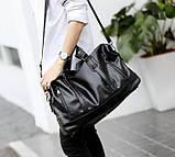 Стильная мужская городская сумка экокожа, фото 5