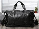Стильная мужская городская сумка экокожа, фото 8