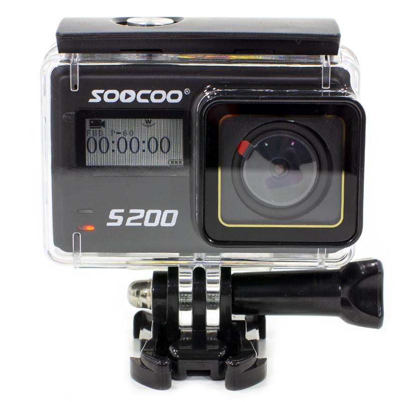 Экшн-камера SOOCOO S200 Black 4K 20 WiFi Угол 170 град microHDMI пульт управления Action Camera