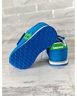 Детские кроссовки на липучках - Saucony Baby Jazz hl blue / green