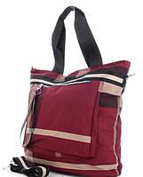 Жіноча тканинна сумка 00112 bordo Тканинні сумки недорого, текстильні сумки
