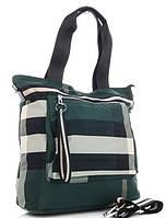 Жіноча тканинна сумка 00112 green Тканинні сумки недорого, текстильні сумки