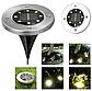 Набор из 4-х солнечных светильников Disk Lights для сада и дома | Уличный светильник на солнечной батарее, фото 6