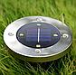 Набор из 4-х солнечных светильников Disk Lights для сада и дома | Уличный светильник на солнечной батарее, фото 8